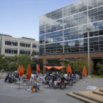 """AMZAZON HAS ISSUED a request for proposal from state and local governments for its """"HQ2,"""" a second headquarters. Above, a courtyard outside Amazon's Seattle headquarters building/BLOOMBERG FILE PHOTO/DAVID RYDER"""