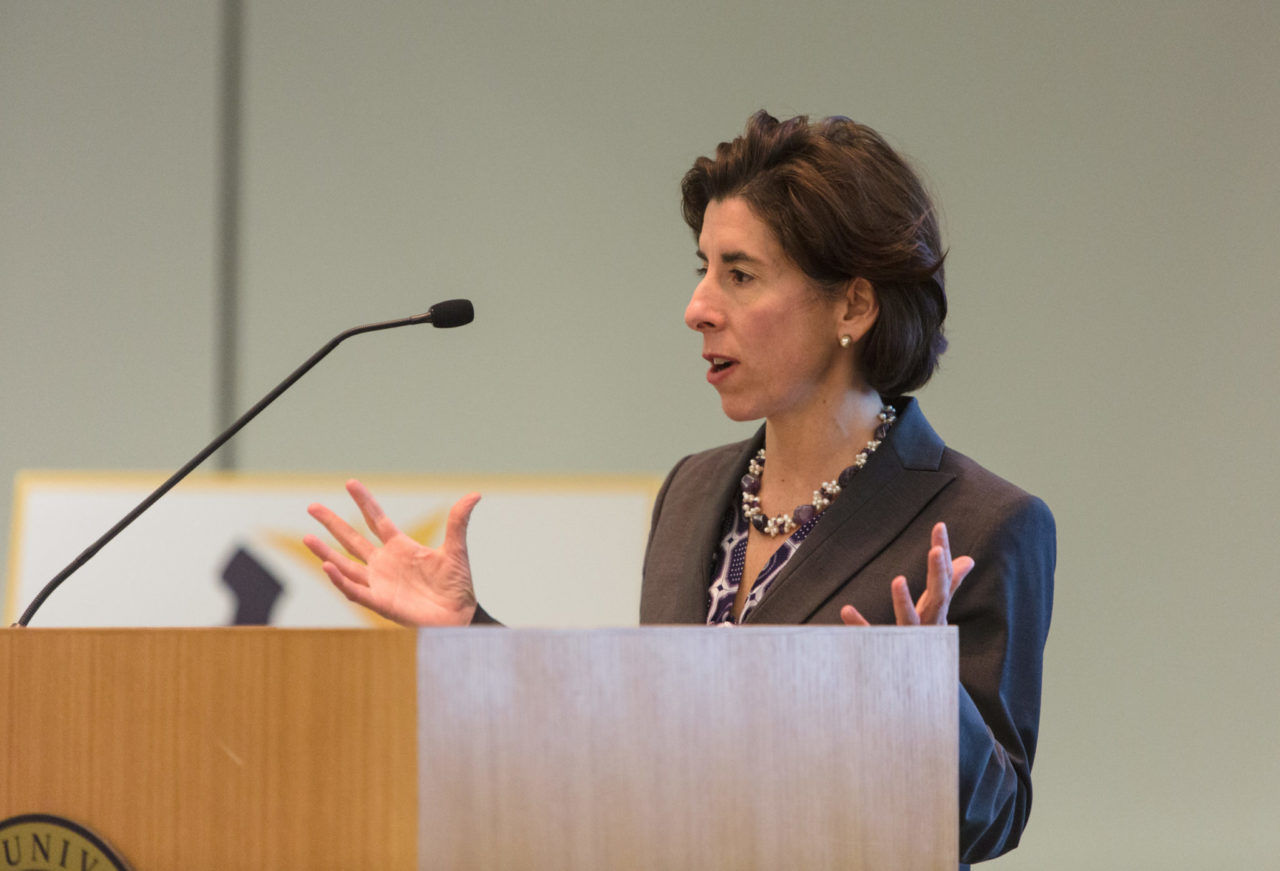 NINE MAJOR Rhode Island employers were announced as founding participants in the new Supply RI initiative that aims to connect Rhode Island companies with Rhode Island suppliers, according to Gov. Gina M. Raimondo. / PBN FILE PHOTO/RUPERT WHITELEY