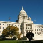 A PHOTO OF the state capitol is taken from the Statehouse lawn in Providence./ COURTESY JACK NEWTON