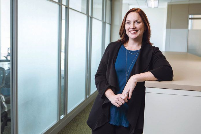 LONGTIME LEADER: Carolyn Belisle, managing director of community relations for Blue Cross & Blue Shield of Rhode Island in Providence, has been with the company for 17 years. / PBN PHOTO/RUPERT WHITELEY