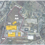 COMMERCIAL DEVELOPER CHURCHILL & BANKS has proposed a 24-acre industrial park at 340 Woodward Road in the north end of Providence, on the North Providence line, that would include three industrial buildings and one office building over the four lots. / COURTESY CITY OF PROVIDENCE