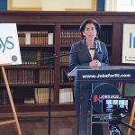 DESIGNING PARTNERSHIP: Half a year after Gov. Gina M. Raimondo revealed Infosys' plans to create a Design and Innovation Hub in Providence, the company announced it was partnering with RISD to build a training curriculum here.  / PBN FILE PHOTO/CHRIS BERGENHEIM