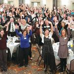 HUMAN CAPITAL: Pawtucket Credit Union employees celebrate at the credit union's 2018 employee recognition night March 19. / COURTESY PAWTUCKET CREDIT UNION