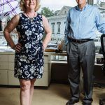 NEW ADVENTURE: Wanting to venture out on their own, Bud and Karen McCann purchased the Allegra Marketing – Print – Mail location in Providence last year. The commercial printer provides mailing services and promotional items as well as creates signs and banners. / PBN PHOTO/RUPERT WHITELEY