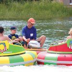 BUMPER BOATS: People enjoy a ride on bumper boats on Block Island during a previous Chamber Block Party event. Nine local chambers of commerce will be part of this year's Chamber Block Party on the island Aug. 10. / COURTESY CENTRAL RHODE ISLAND CHAMBER OF COMMERCE/JOHN LOVEGREN PHOTOGRAPHY