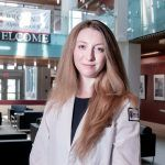BETTER RANKINGS: Shayla Durfey, third-year medical student at the Warren Alpert Medical School of Brown University, is a co-author of a study that finds that federal rankings for cost-saving Medicare Advantage Plans improve when adjusted for race, neighborhood poverty and social risk.   / PBN PHOTO/MICHAEL SALERNO