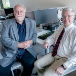 TRAINING NEEDED: UMass Dartmouth professors Tim Shea, left, associate professor marketing/business information systems, and Steve White, professor of marketing and international business, oversaw a cybersecurity survey that found employee training lacking. / PBN PHOTO/MICHAEL SALERNO