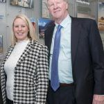 """Jaclyn Leibl-Cote, president of Collette Travel Services Inc., is pictured right standing next to her father, Dan Sullivan Jr., former president and current Collette CEO. On Wednesday, the Pawtucket-based company announced it planned to create """"75-plus"""" full-time jobs in the local market over the next """"several years."""" / PBN FILE PHOTO/MICHAEL SALERNO"""