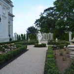 RESTORATION OF THE Rosecliff rose garden has been completed, per an announcement by the Preservation Society of Newport County Friday. The project was commenced in October. / COURTESY OF PSONC