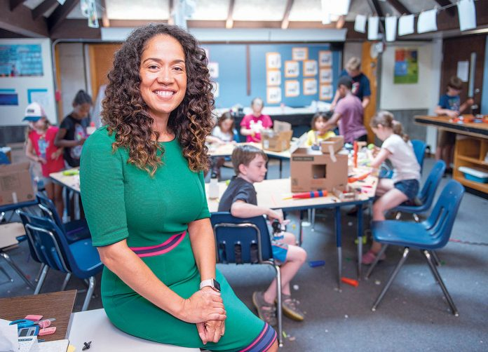 INCLUSIVE APPROACH: Noni Thomas López, head of school at the Gordon School in East Providence, says the school is founded on the idea of inclusivity, which is why it has launched a new individualized tuition payment program for families this year in order to diversify its student population. / PBN PHOTO/DAVID HANSEN