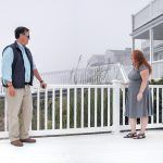 RIGHT FIT: Sarah Lassor and Howard Thorp, of Thorp & Trainer Insurance, are on a deck on Atlantic Avenue in the Misquamicut section of Westerly. Thorp says private flood insurance isn't right for everyone. / PBN PHOTO/BRIAN MCDONALD