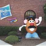TOYMAKER HASBRO is considering moving out of its Pawtucket headquarters, shown above. The situation has prompted Rhode Island's political leaders to meet in December to discuss the situation. / COURTESY HASBRO INC.