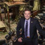Tom Parrish's success at Trinity Rep has been recognized by Providence Business News, which awarded it a Business Excellence Award recently for Excellence at a Midsize Company, based largely on the financial turnaround of the 55-year-old acting company since he arrived in 2015. / PBN PHOTO/DAVE HANSEN