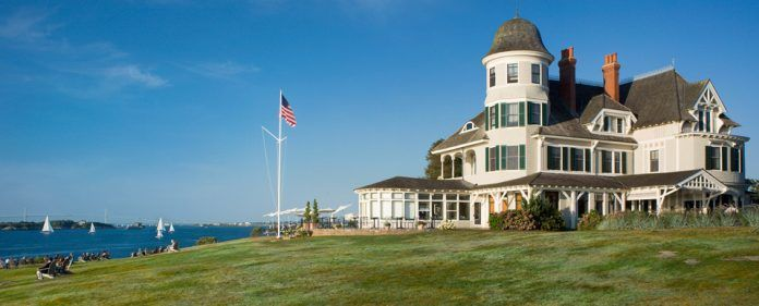BOTH THE LAWN at Castle Hill Inn and The Dining Room at Castle Hill Inn, as well as Bouchard Inn & Restaurant, were named among OpenTable's top 100 restaurants in the United States for 2018. Above, Castle Hill Inn. / COURTESY CASTLE HILL INN