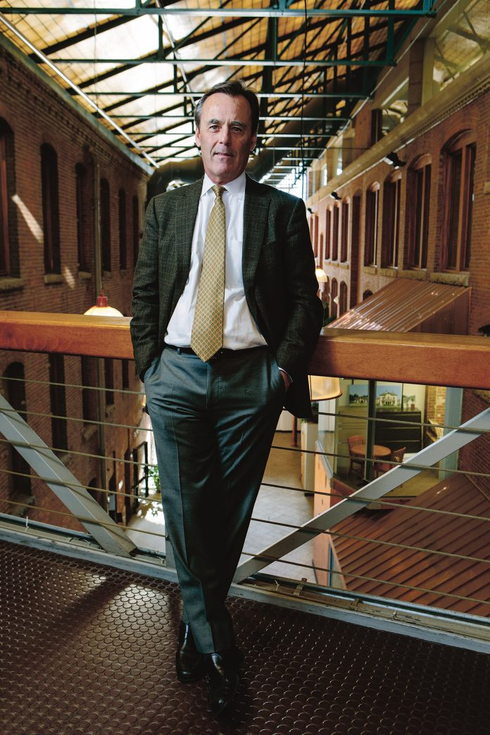 Prior to founding Biograph Venture Development roughly a year ago, Richard G. Horan led the publicly funded, nonprofit venture capital Slater Technology Fund. Now he looks to concentrate on Rhode Island's life sciences and biotechnology sectors with Biograph.  / PBN FILE PHOTO/RUPERT WHITELEY