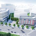 THE PROPOSED ALOFT HOTEL, at right, is expected to begin construction this year. / COURTESY I-195 REDEVELOPMENT DISTRICT COMMISSION