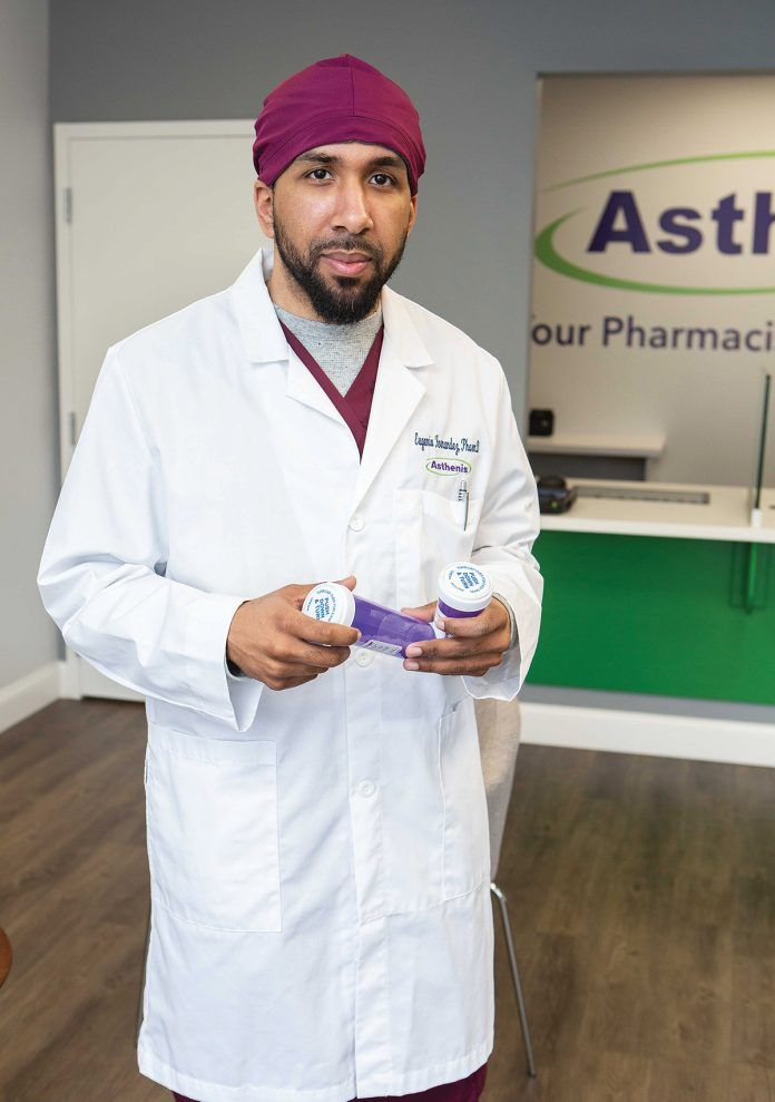 FINDING A NICHE: Eugenio Fernandez Jr. grew up in Providence's West End and is now giving back through his independent pharmacy that serves a large Spanishspeaking population. / PBN PHOTO/RUPERT WHITELEY