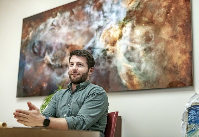 ART ADVOCATE: Josef Blazar, co-owner of YJ Contemporary Fine Art in East Greenwich, launched the gallery to bring art collectors to the town and provide artists a platform for their work. / PBN FILE PHOTO/MICHAEL SALERNO