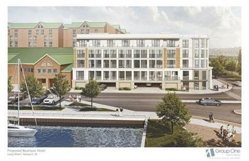 CONSTRUCTION HAS begun on the 57-room Brenton Hotel America's Cup Avenue in Newport. / COURTESY LWH LLC