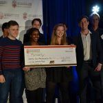 FORMALLY PLACED FIRST in the Nelson Center for Entrepreneurship at Brown University's Venture Prize pitch contest. Above, from left to right, pitch team members Benjamin Murphy, Diane Mukato, Amelie Vavrosky and Noah Picard. / COURTESY BROWN UNIVERSITY
