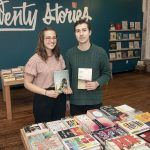 MOBILE BOOKS: Alexa Trembly and Emory Harkins are the co-owners of Twenty Stories, a Los Angeles-born mobile bookselling company that opened a shop in Pawtucket in November. / PBN PHOTO/MICHAEL SALERNO