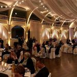 ATTENDEES GATHER at the Steamship Historical Society of America's annual Ocean Liner Dinner at Rhodes on the Pawtuxet in Cranston. The society will hold its fourth annual Ocean Liner Dinner on May 4 at Squantum Aquarium in East Providence. / COURTESY STEAMSHIP HISTORICAL SOCIETY OF AMERICA
