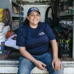 After years working with, among others, nuns and becoming an expert in demolition for a contractor, Anne-Marie Rosario Flores decided to become a plumber. After a two-year course at New England Institute of Technology and working for other plumbers, she founded Anne the Plumber in 2013. / PBN PHOTO/RUPERT WHITELEY