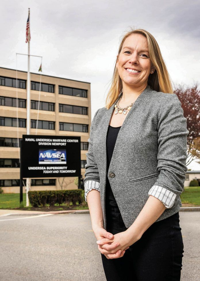 FULL SPEED AHEAD: Catherine Anders, head supervisory human resources specialist at the Naval Undersea Warfare Center Division Newport, has been busy in recent years. The division has hired about 350 people in each of the last three years, and the pace isn't slowing. / PBN PHOTO/DAVE HANSEN