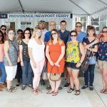 FERRY RIDE: Members of Province Mortgage's operations teams visit Newport by ferry from Providence during a day of appreciation.  / COURTESY PROVINCE MORTGAGE ASSOCIATES