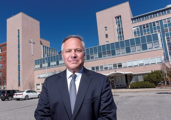JOSEPH R. PAOLINO JR., who purchased multiple lots and the former St. Joseph Health Center property in the Elmwood neighborhood of Providence, has listed them for sale. / PBN FILE PHOTO/MICHAEL SALERNO