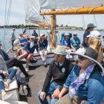 TAKING CONTROL: Sailing Heals takes cancer patients and their caregivers for a sail aboard the schooner Madeleine in Newport. / PBN PHOTO/DAVE HANSEN