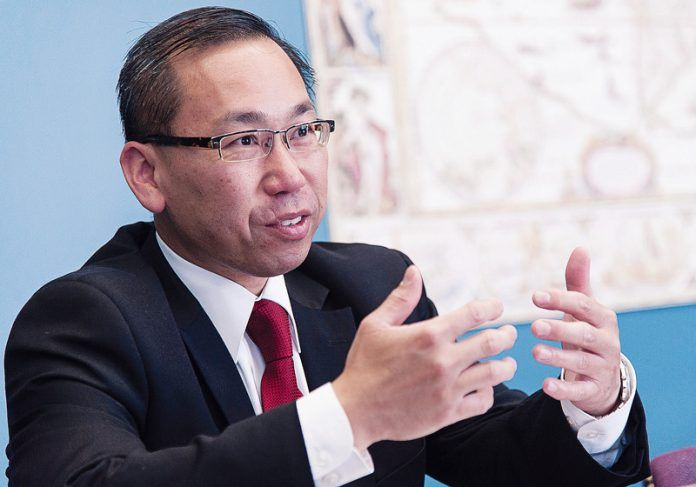 THE R.I. SUPREME COURT affirmed a decision that upheld Cranston Mayor Allan W. Fung's pension reforms for public safety workers. The city had settled with most members of the pension plan, but a group of pension members opted out and continued litigation against the city. / PBN FILE PHOTO/MICHAEL SALERNO