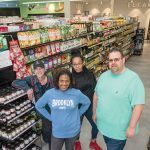 FOOD CO-OP: From left, Erb Reinert, bulk and wellness buyer; Jacqueline Sophia, finance manager; Leah Costa, customer service manager; and Jesse Cardarelli, produce manager, are pictured at the newly opened Urban Greens Co-op Market in Providence. / PBN PHOTO/MICHAEL SALERNO