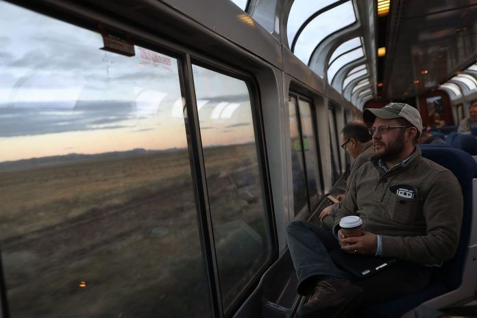 THE NORTHEAST CORRIDOR route of Amtrak makes more money than any other line, while longer distance routes lose money. / BLOOMBERG NEWS FILE PHOTO/GETTY IMAGES/JOE RAEDLE