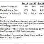 THE RHODE ISLAND unemployment rate declined 0.4 percentage points year over year in June to 3.6%. / COURTESY R.I. DEPARTMENT OF LABOR AND TRAINING