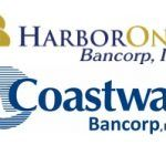 HARBORONE BANK's holding company reported a double-digit increase in net income in the second quarter, bolstered by the acquisition of Warwick-based Coastway Community Bank.