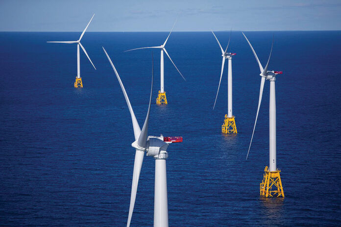ORSTED, a global wind energy developer, has announced plans to locate a national innovation hub in Providence. / BLOOMBERG NEWS FILE PHOTO/ ERIC THAYER