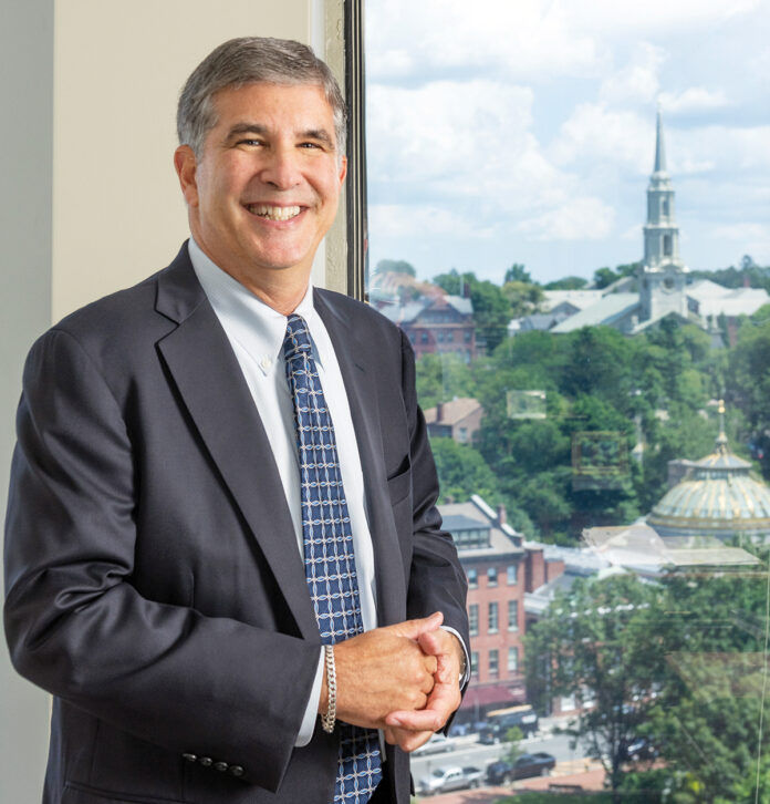 CONSTANT PRESENCE: David M. Gilden has been a partner at Partridge Snow & Hahn LLP since the firm was established in 1988. / PBN PHOTO/DAVE HANSEN