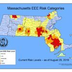 """SIX MUNICIPALITIES in Bristol County, Mass., were determined to have a """"critical"""" risk level for EEE. / COURTESY MASS. DEPARTMENT OF PUBLIC HEALTH"""
