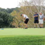 """SUPPORTIVE SWINGS: Golfers play a hole during last year's """"Swing to Support"""" charity golf event, held by the Children's Advocacy Center of Bristol County. This year's event will be held Oct. 4 at Ledgemont Country Club in Seekonk. / COURTESY CHILDREN'S ADVOCACY CENTER OF BRISTOL COUNTY"""