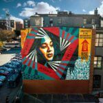 SHEPARD FAIREY has completed his 100th mural, located at 91 Clemence St., in downtown Providence. / COURTESY AS220