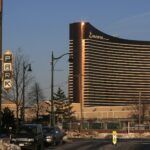 MASSACHUSETTS CASINO REVENUES are trailing projections, but it isn't immediately clear as to why. Pictured is the Encore Boston Harbor casino in Everett, Mass., which opened in June. / BLOOMBERG NEWS FILE PHOTO/GETTY IMAGES/JESSICA RINALDI