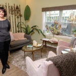 """NEEDED TREATMENT: Susan Benzuly, owner of Evolve Apothecary and Spa in Providence, says selling spa time to customers who are giving the treatments as gifts has become a key part of her business during the holidays. """"Self-care is not a luxury; it is a necessity,"""" she said. / PBN PHOTO/MICHAEL SALERNO"""
