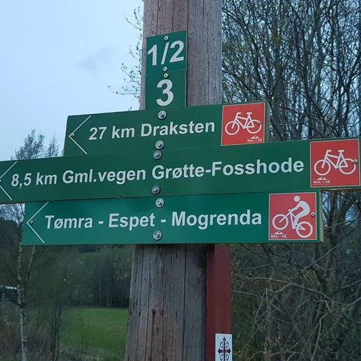 Sykkelruter i Selbu - Rute 2 - Tømra-Fuglem-Gml.vei Grøtte/Fosshode-Tømra
