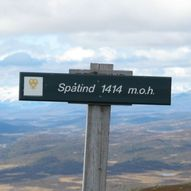 Korteste vei til Spåtind, 1414moh.