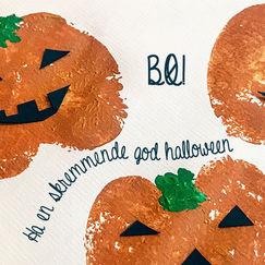 Gresskarstempel - morsom og enkel aktivitet til Halloween