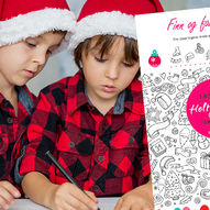 Finn og fargelegg - aktivitetsark med juletema