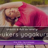 Utvhilt & full av energi | et 6-ukers yogakurs