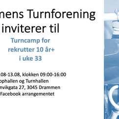 Rekrutt camp hos Drammens Turnforening uke 33