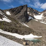 Kågtind - tredje høyste øyfjell i Norge.